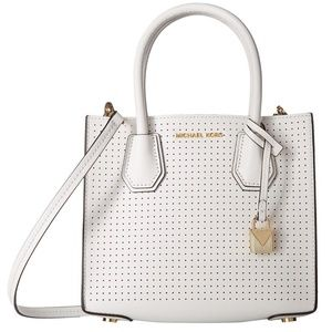 Michael Kors Mercer Perforated Leather Crossbody